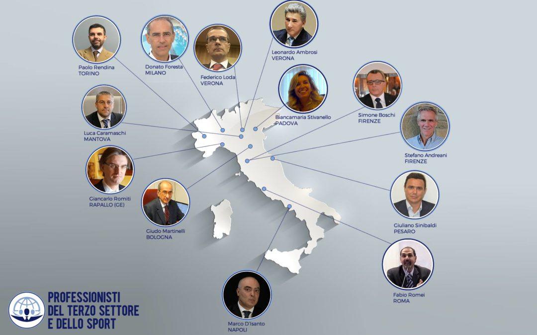 PROFESSIONISTI DEL TERZO SETTORE E DELLO SPORT – Il nuovo networking di Esperti del No Profit